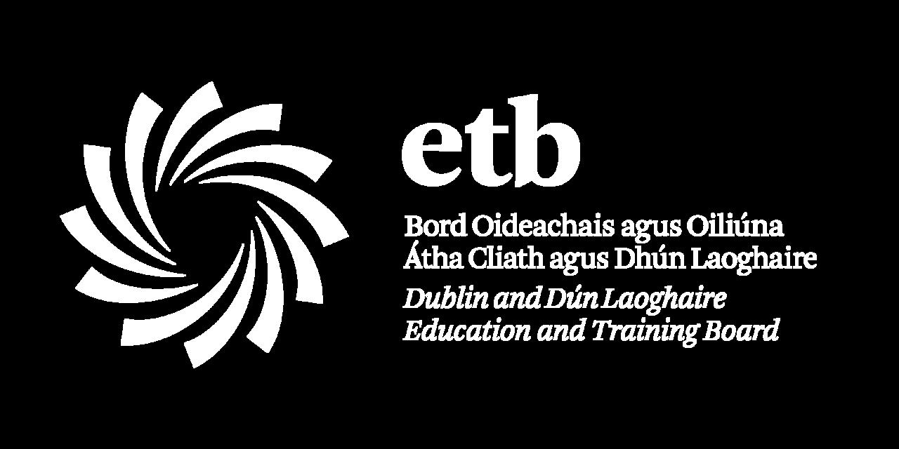 DDLETB Logo - White