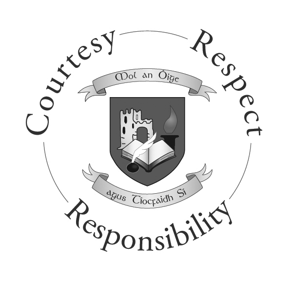 CCC Crest - Courtesy, Respect, Responsibility - GREY