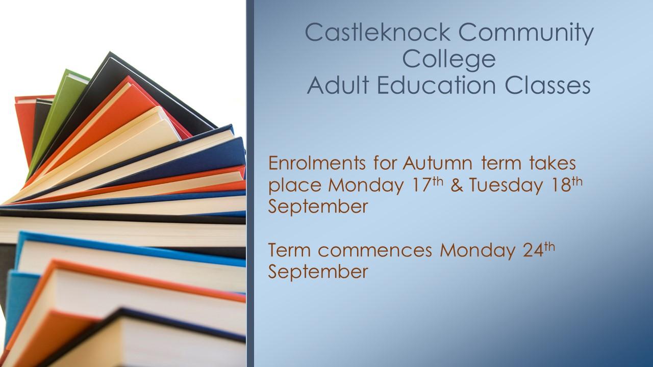 Adult Education Autumn Classes