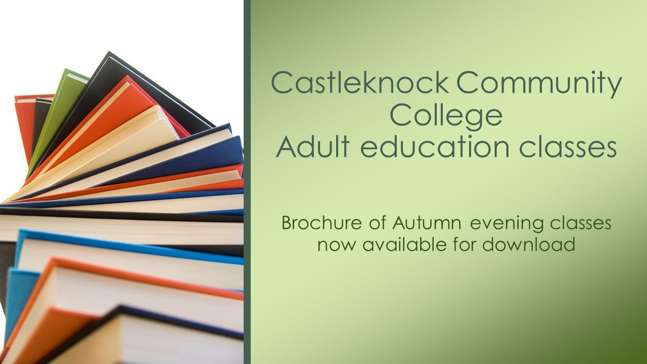Adult Education Autumn Brochure 2018