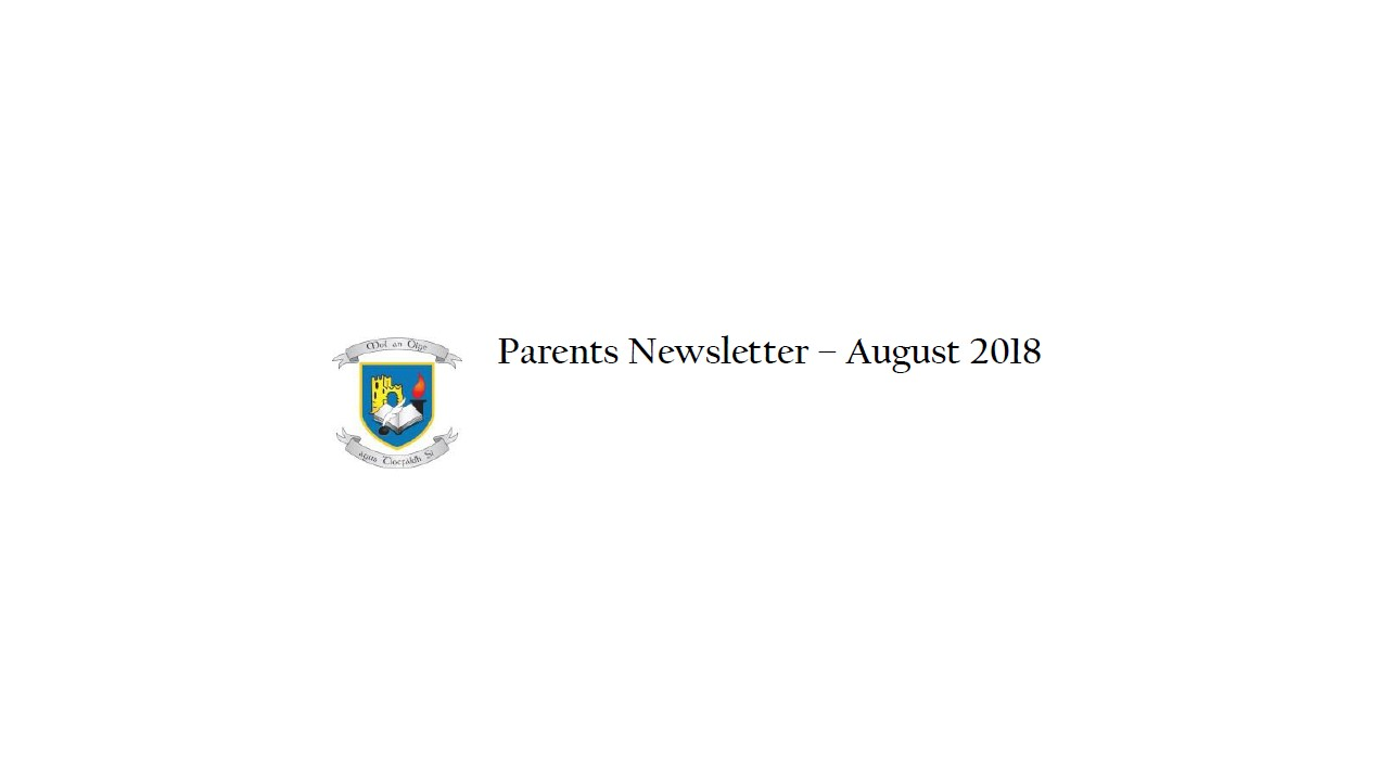 Parents Newsletter August 2018