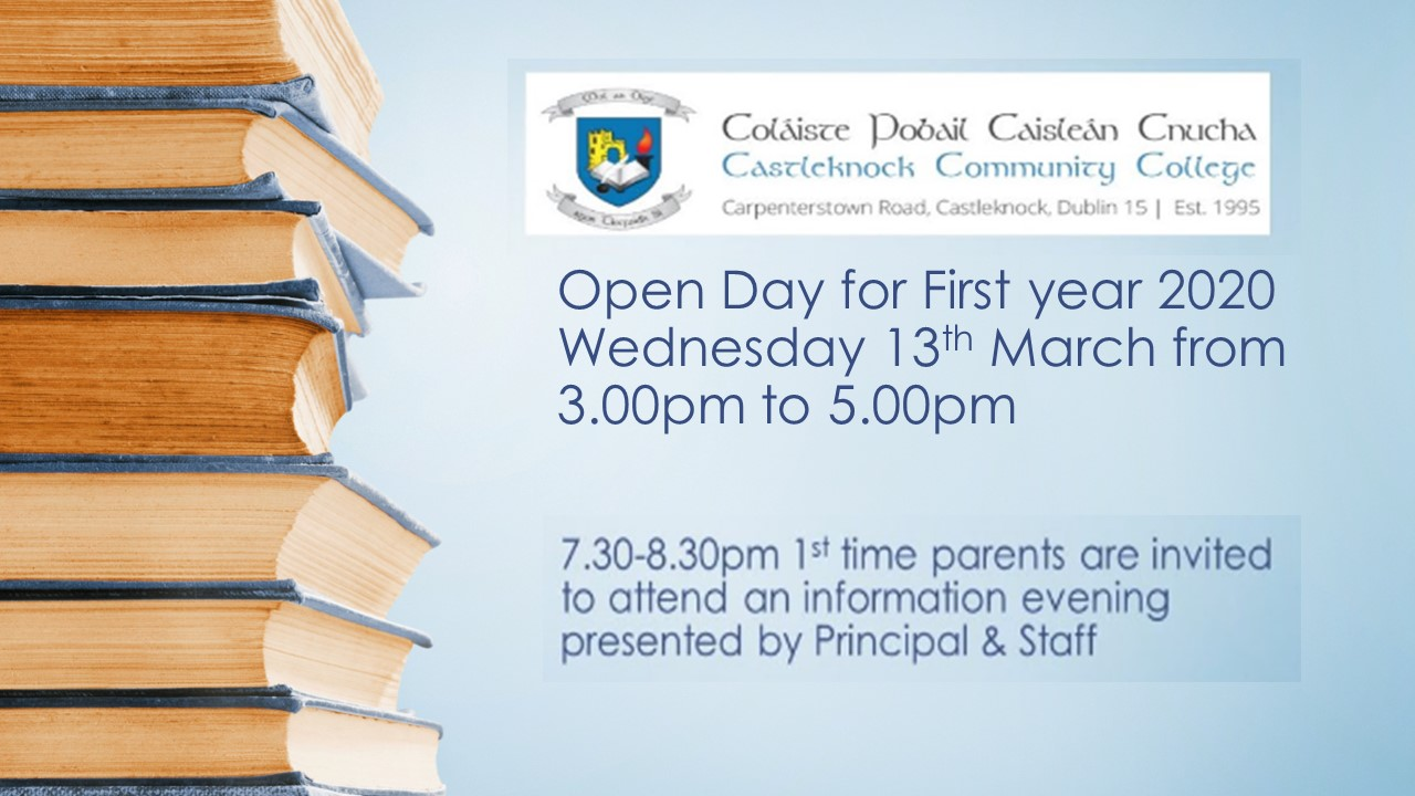 Information Afternoon & Evening for First years in 2020
