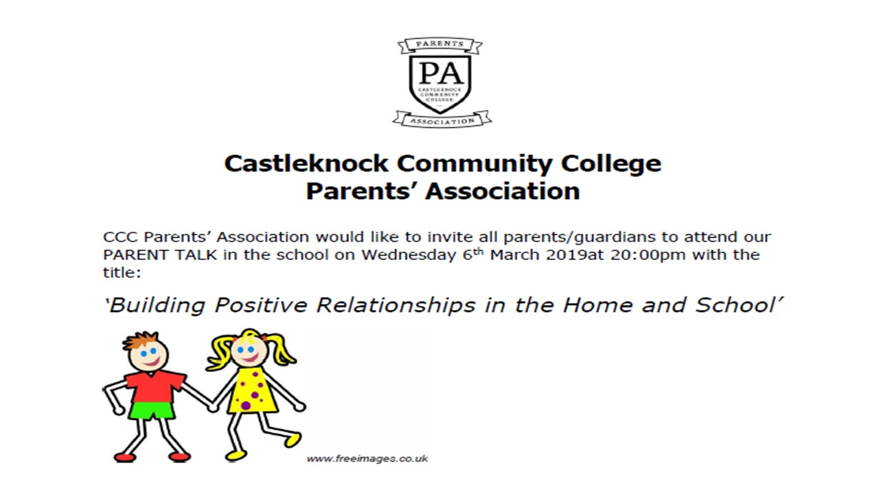 Building Positive Relationships in the Home and School