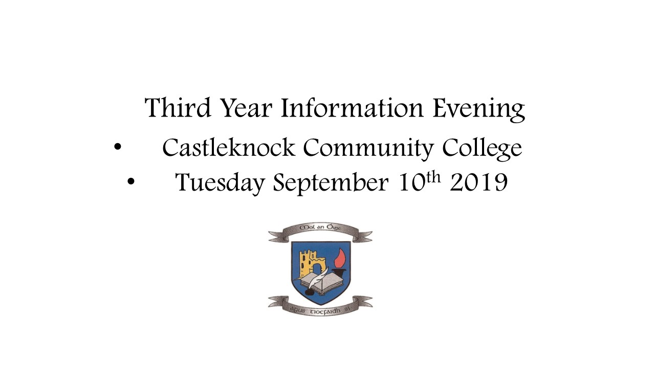 Third Year Information Evening 2019