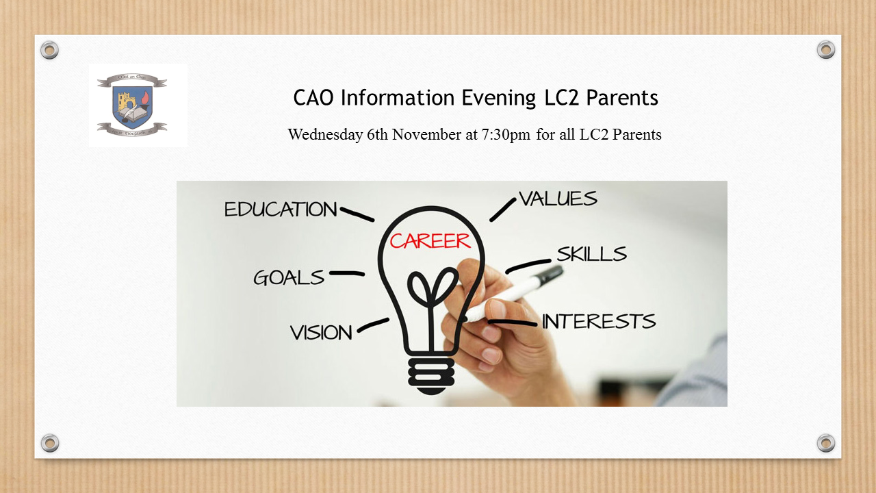 CAO Information Evening 2019