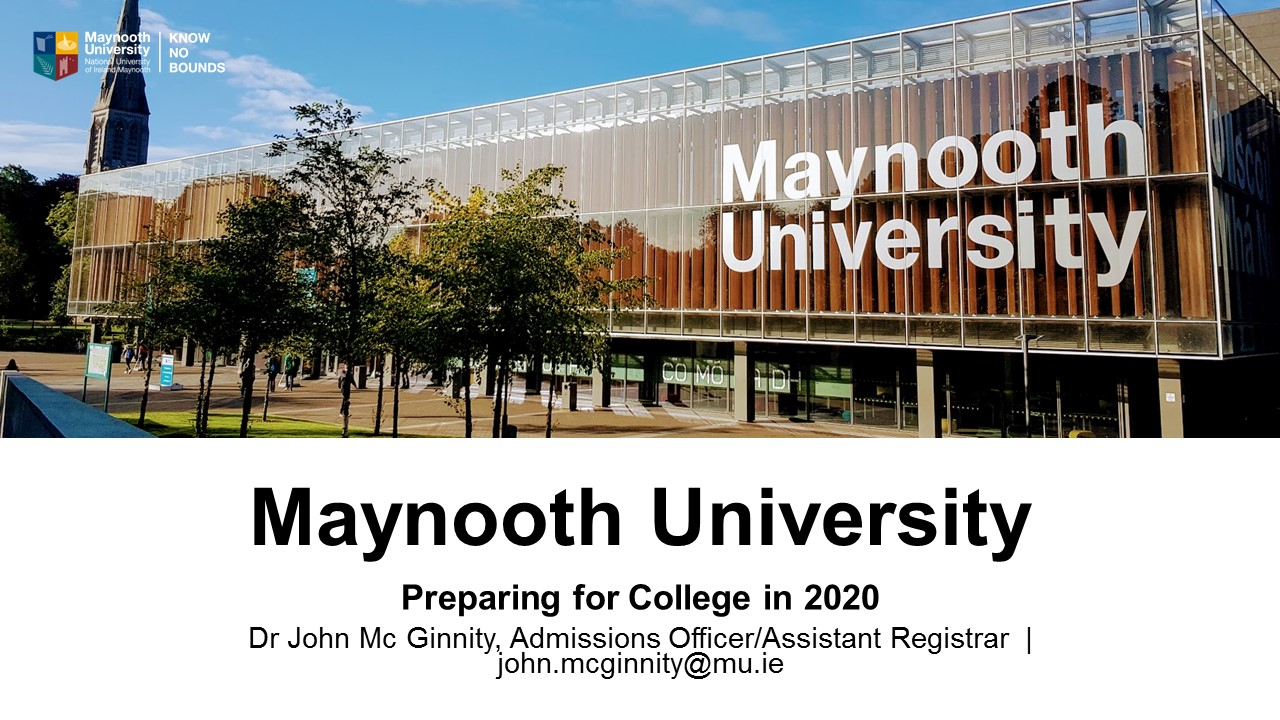 Maynooth University Talk