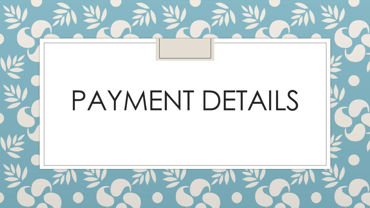 Payment Details 2020